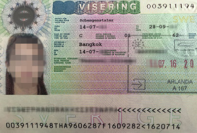 FAQ about visa to Sweden. With a Schengen visa to Sweden you can also travel to other European coutries within the Schengen area.